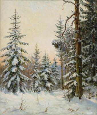 Elena Konstantinovna Luksh-Makovskaya. Winter forest