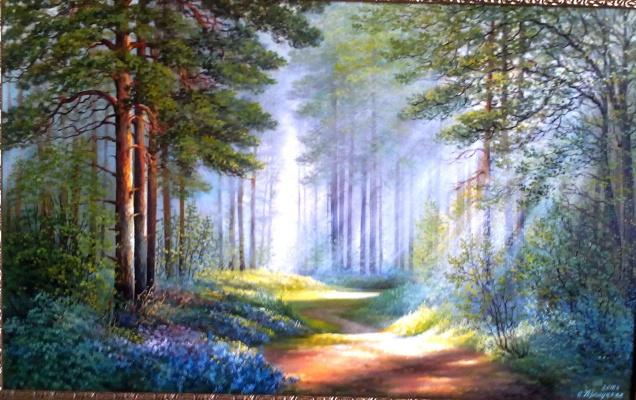 Cvetlan Vasilyevna Prilutskaya. Morning in the forest