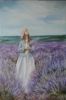 Lyudmila Alexandrovna Rossamakhina. Girl and Lavender