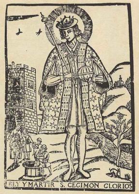 Пере Абадаль. Святой Сигизмунд, король и мученик