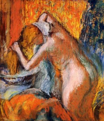 Эдгар Дега. После ванны. Женщина, сушащая волосы