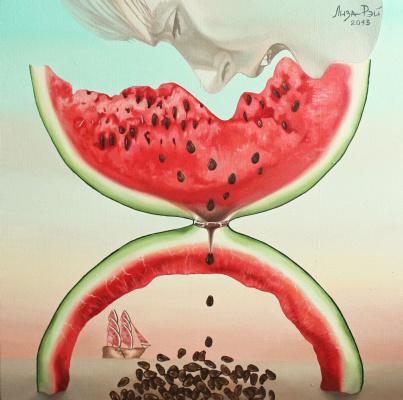 Lisa Ray. Watermelon, eaten in time