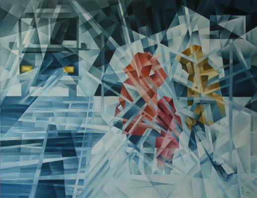 Vasily Krotkov. Blizzard. Kubofuturizm