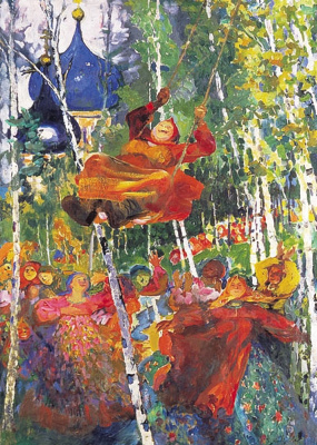 Philip Andreevich Malyavin. Woman on the Swing