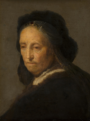 Rembrandt Harmenszoon van Rijn. Sketch of an elderly woman