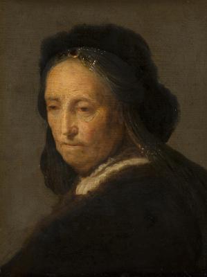 Rembrandt Harmenszoon van Rijn. Sketch of an elderly woman