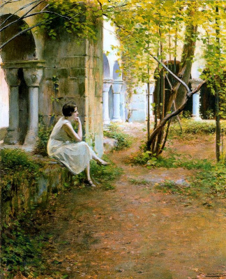 Ramon Casas i Carbó. Julia in the monastery of Sant Benet