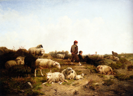 Ван Леемпуттен. Пастушки со своим стадом