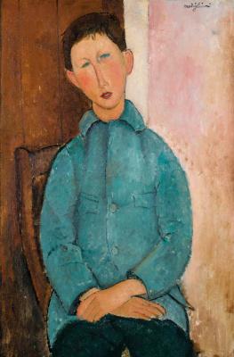 Амедео Модильяни. Мальчик в голубом пиджаке