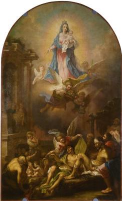 "Vladimir Lukich Borovikovsky. Mother of God ""joy of All who sorrow"". Icon of St. Boris and Gleb Cathedral in Torzhok"