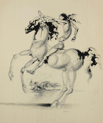 Salvador Dali 1904 - 1989 Spain. Horse and rider. 1935