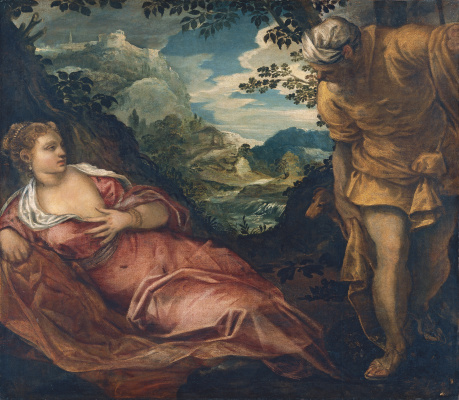 Jacopo (Robusti) Tintoretto. Judah and Tamar