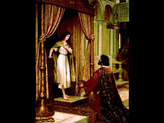 Edmund Blair Layton. The king and the beggar maid