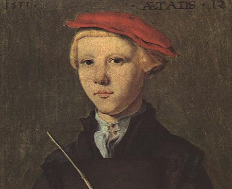 Скорел. Мальчик в красной кепке