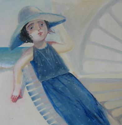 Olga Gennadievna Kravtsova-Motspan. Windy day.