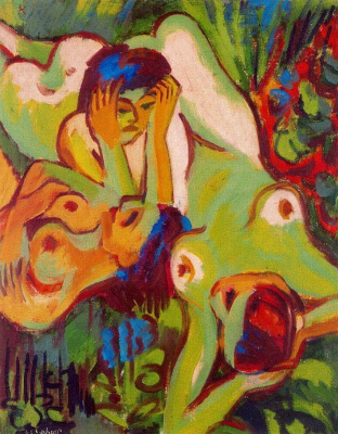 Ernst Ludwig Kirchner. Bathers in the Visa