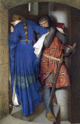 Frederick William Burton. Hellelil and Hildebrand, The Meeting on the Turret Stairs