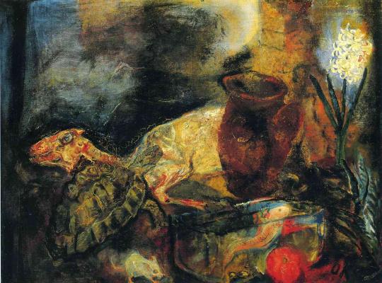 Oskar Kokoschka. Still life with a slaughtered lamb