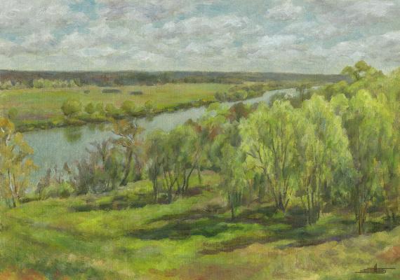 Andrei Ivanovich Borisov. May greens. Morning.