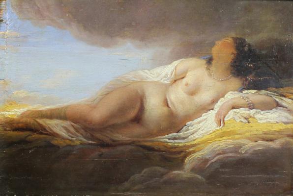 Francesco Ayets. Reclining Nude