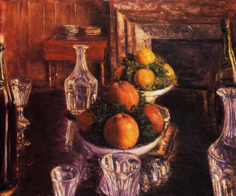 Gustave Caillebotte. Still life