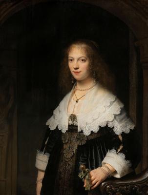Рембрандт Харменс ван Рейн. Портрет женщины (вероятно, Марии Трип)