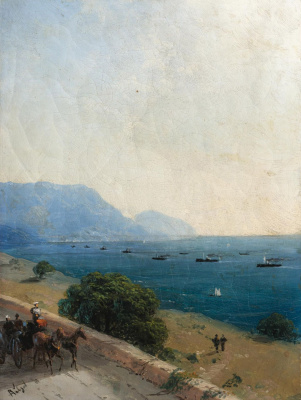Ivan Aivazovsky. The fleet on the Black sea