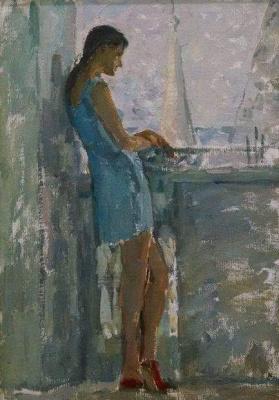 Дина Михайловна Фрумина. Галочка на балконе