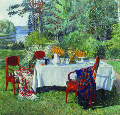 Stanislav Yulianovich Zhukovsky. Front of the terrace