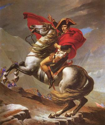 Жак-Луи Давид. Наполеон на перевале Сен-Бернар