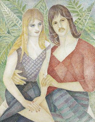 Maria Bronislavovna Marevna (Vorobyeva-Stebelskaya). A portrait of David Hodge with his girlfriend.