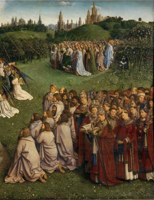 Hubert van Eyck. Gents altar. Adoration of the Lamb (fragment)