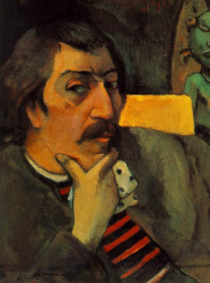 Paul Gauguin. Self portrait with the idol