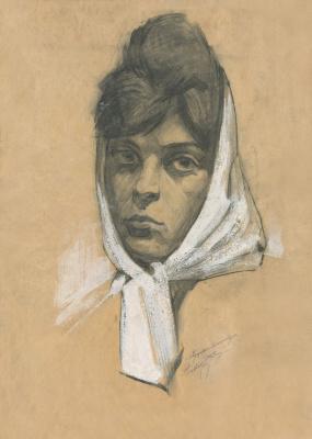 Alexandrovich Rudolf Pavlov. Portrait of a woman.