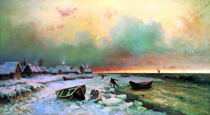 Julius Klever. The village on the island of Nargen