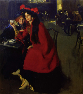 Alexander Murashko. In a cafe