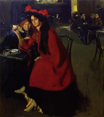 Alexander Murashko. In a cafe