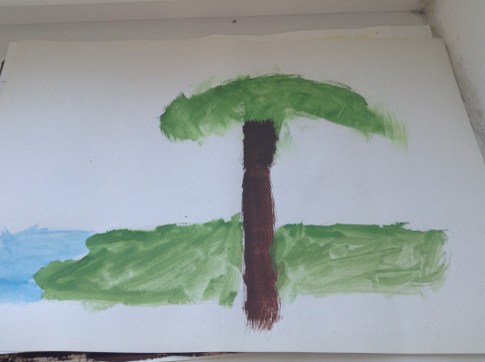 Amateur Draw. Lonely palm tree