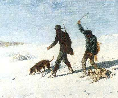 Gustave Courbet. Poachers in the snow