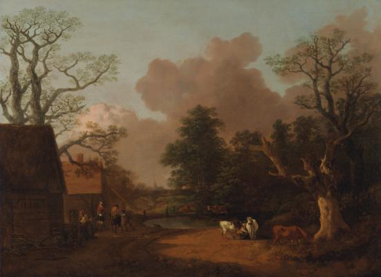 Томас Гейнсборо. Пейзаж с дояркой