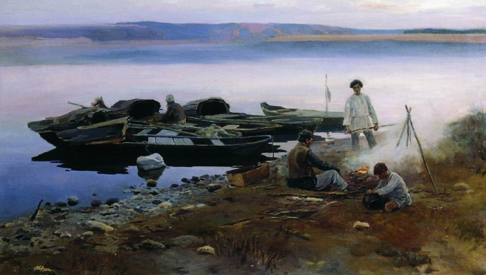 Alexey Stepanovich Stepanov. On The Volga