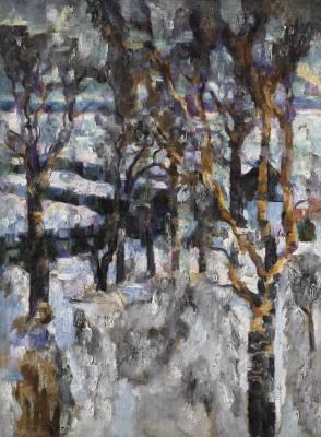 Vasily Vasilievich Rozhdestvensky. Winter landscape