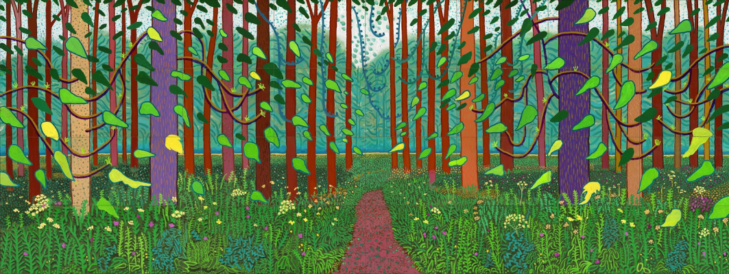 David Hockney. The Arrival of Spring in Woldgate, East Yorkshire in 2011