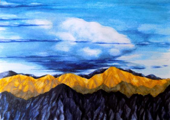 Alex Visiroff. Mountains gold