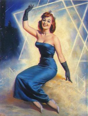 Билл Медкалф. Девушка в синем платье