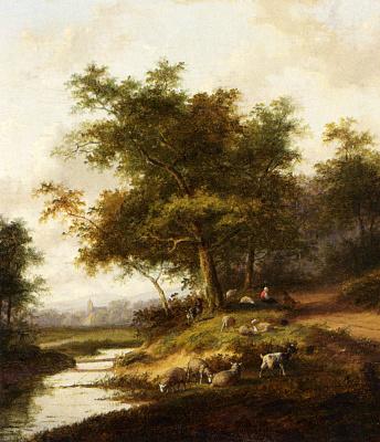 Ян Эверт Морель. Пастушка на отдыхе