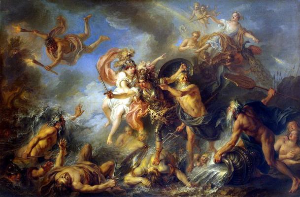 Charles-Antoine Coypel. Fury Of Achilles