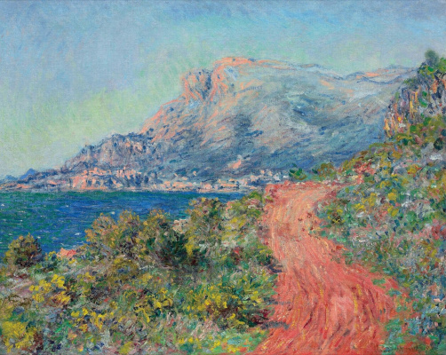Claude Monet. Red road near Menton