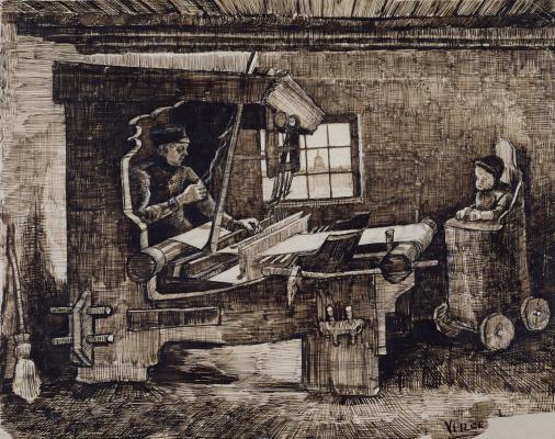 Винсент Ван Гог. Ткач с младенцем в высоком стуле
