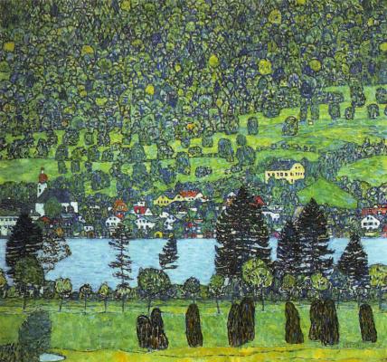 Густав Климт. Берег Унтерах на озере Аттерзее